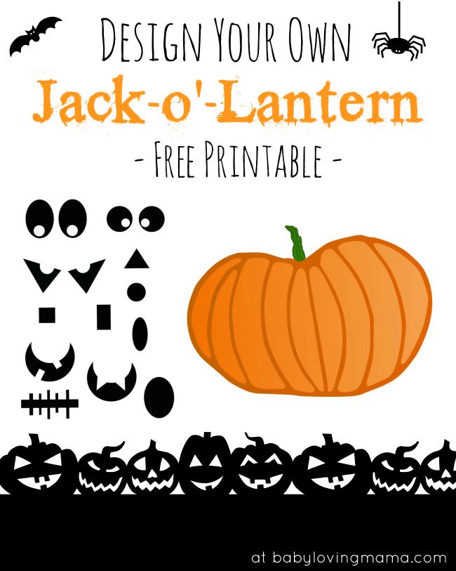 jack-o'-lantern halloween pumpkin free printable