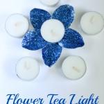 Flower Tea Light DIY Candle Holder