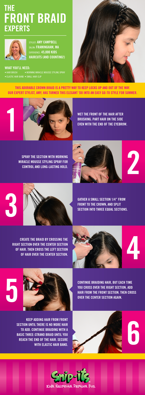 The Front Braid Hairstyle for Girls Snip Its