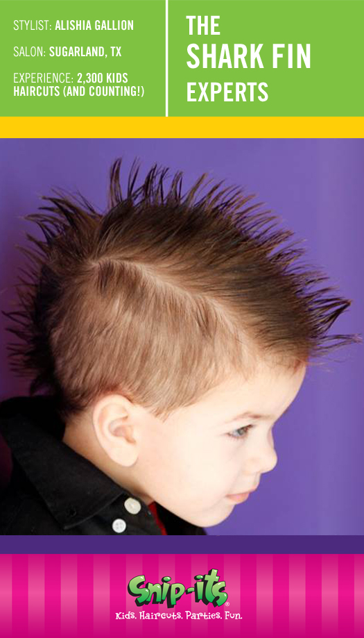 The Shark Fin Kids Spikey Hairstyle Snip Its