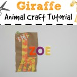 giraffe paper bag craft