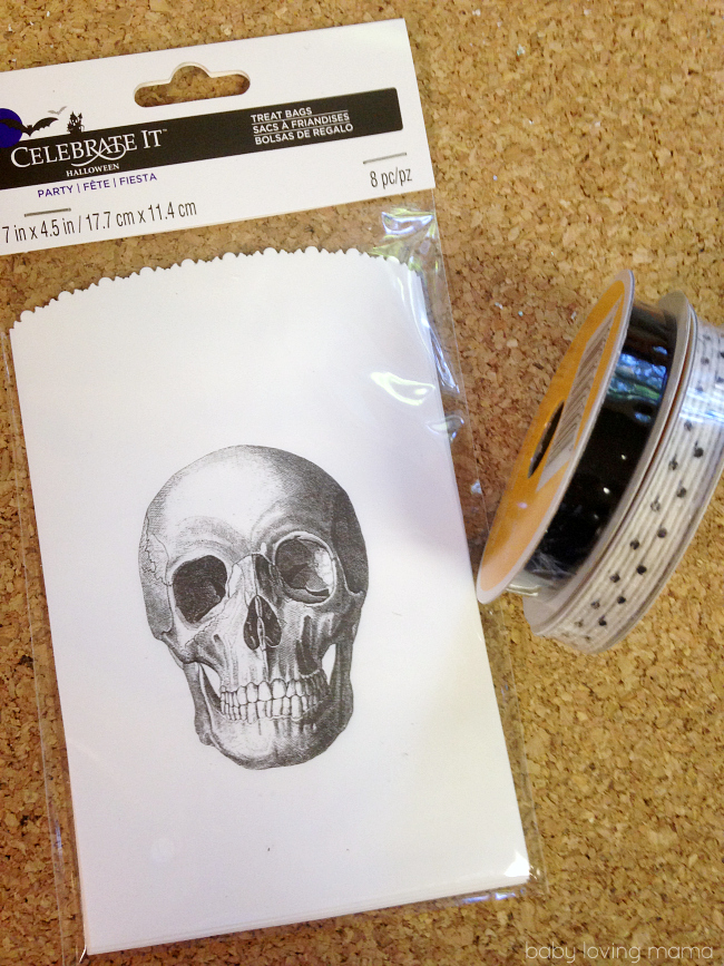 Skeleton Gift Bag Banner Supplies
