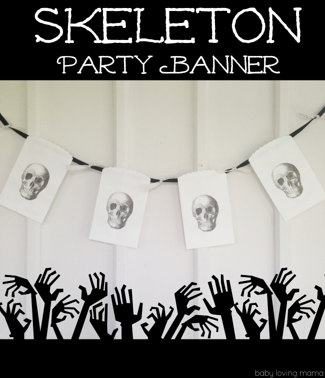 skeleton party banner