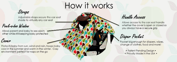 bowe baby car seat shade features
