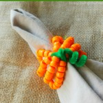 Pumpkin Napkin Ring Craft