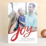 Minted Holiday photo card Joy