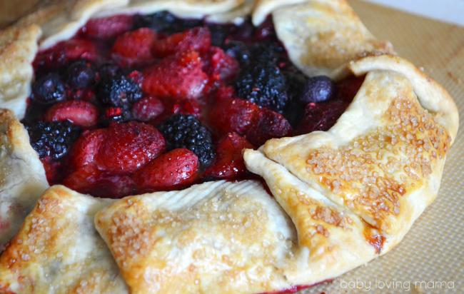 Mixed Berry Galette with Frozen Fruit from Dole