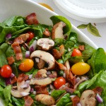 Spinach Bacon and Tomato Salad