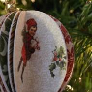 DIY Vintage Paper Ball Ornaments #MakeItGiveIt