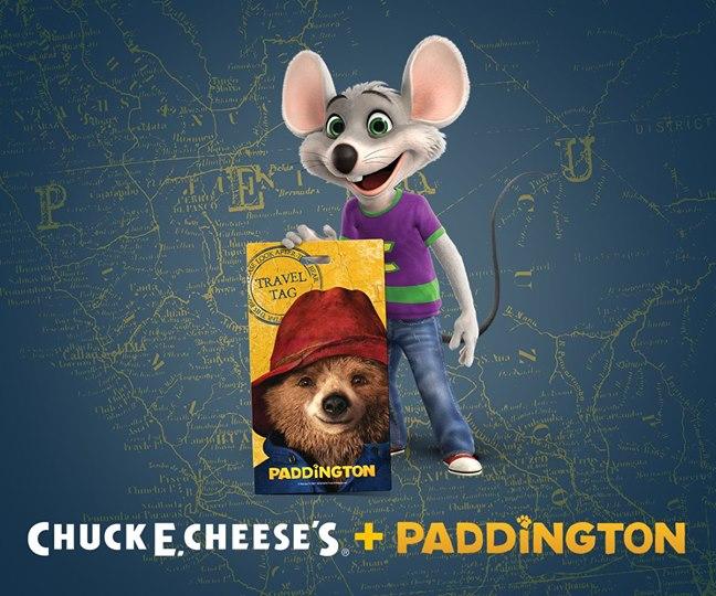 Paddington and Chuck E Cheese