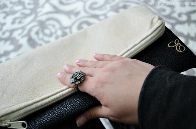 Vegan Leather Foldover Clutch