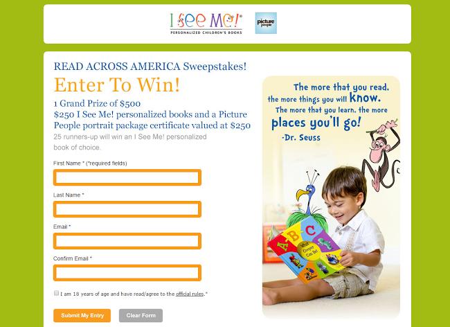 Read Across America Sweepstakes