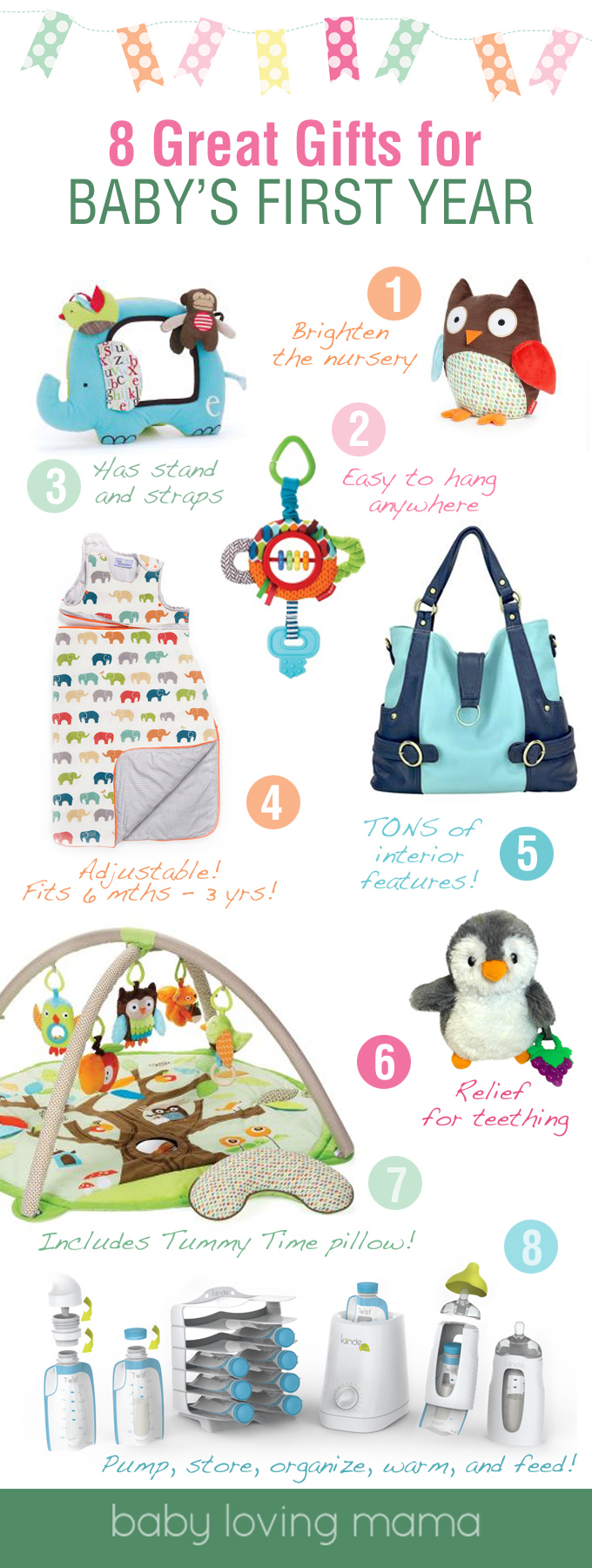 8 Great Gifts for Baby's First Year