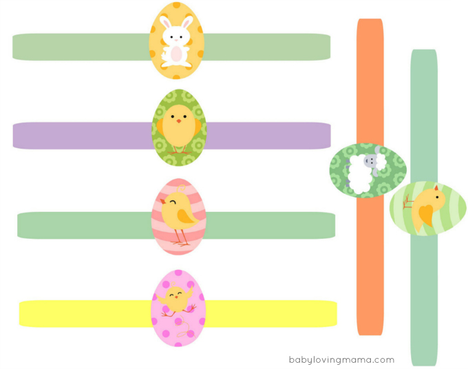 Easter Wraps for Eggs