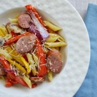 Smoked Sausage with Penne Pasta #HillshireSausage