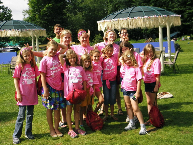 New Campers get ready for a weekend of fun at Camp Angel