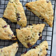 Cranberry Orange Scones with Orange Butter #REALSeal
