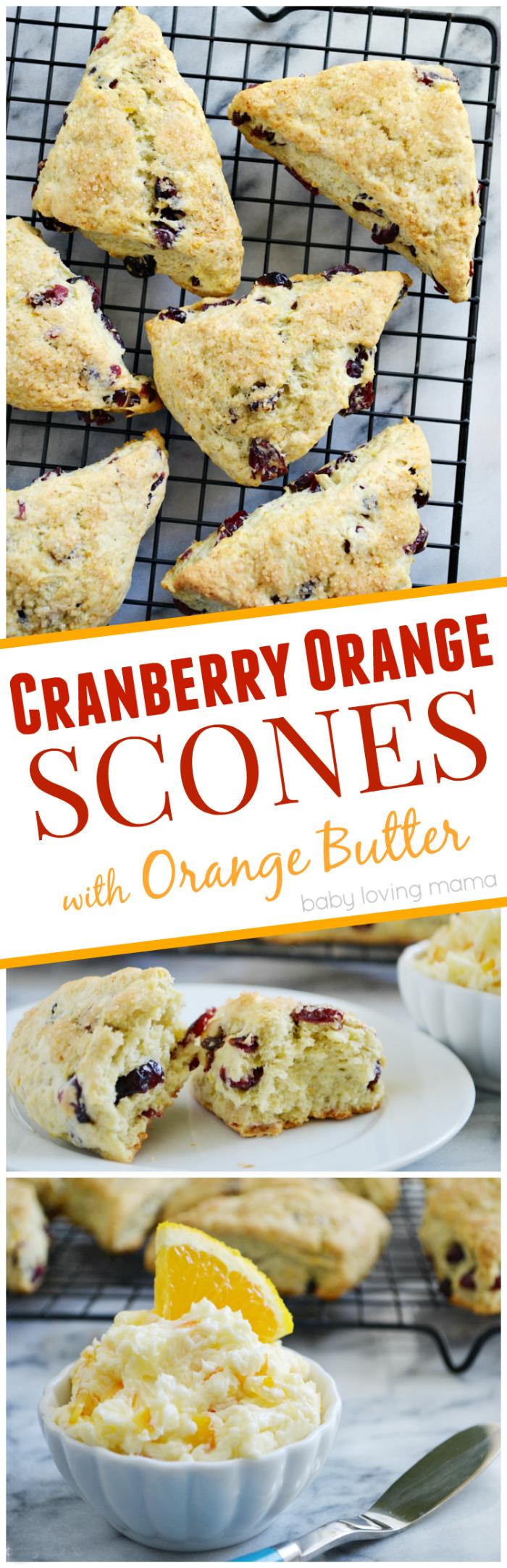 Cranberry Orange Scones with Orange Butter #REALSeal - Finding Zest