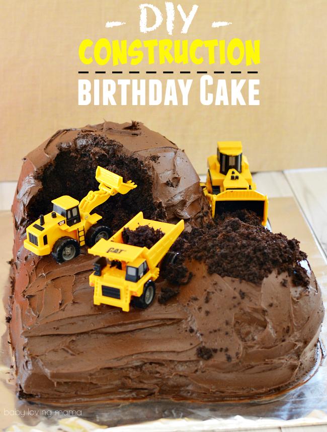 DIY Construction Birthday Cake