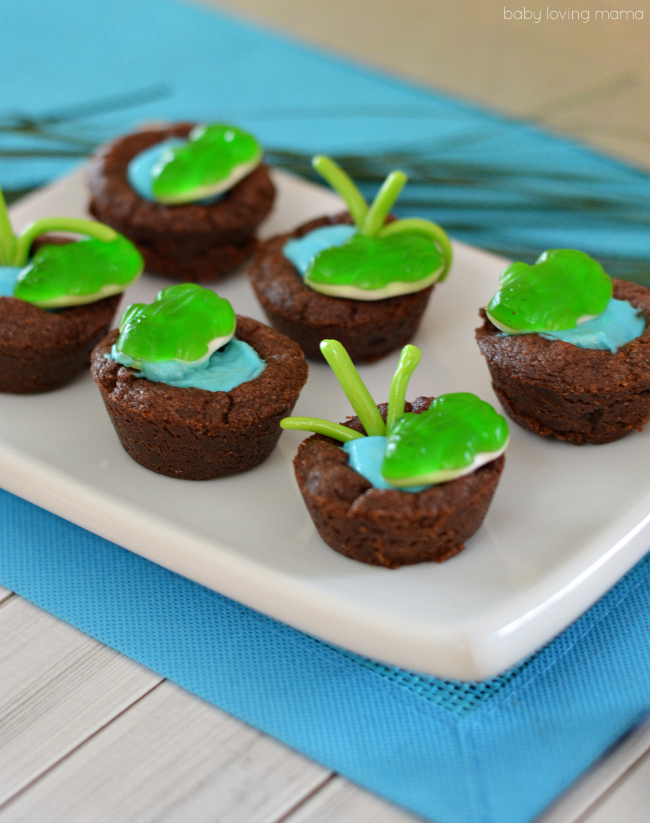 easy frog pond cookie cups