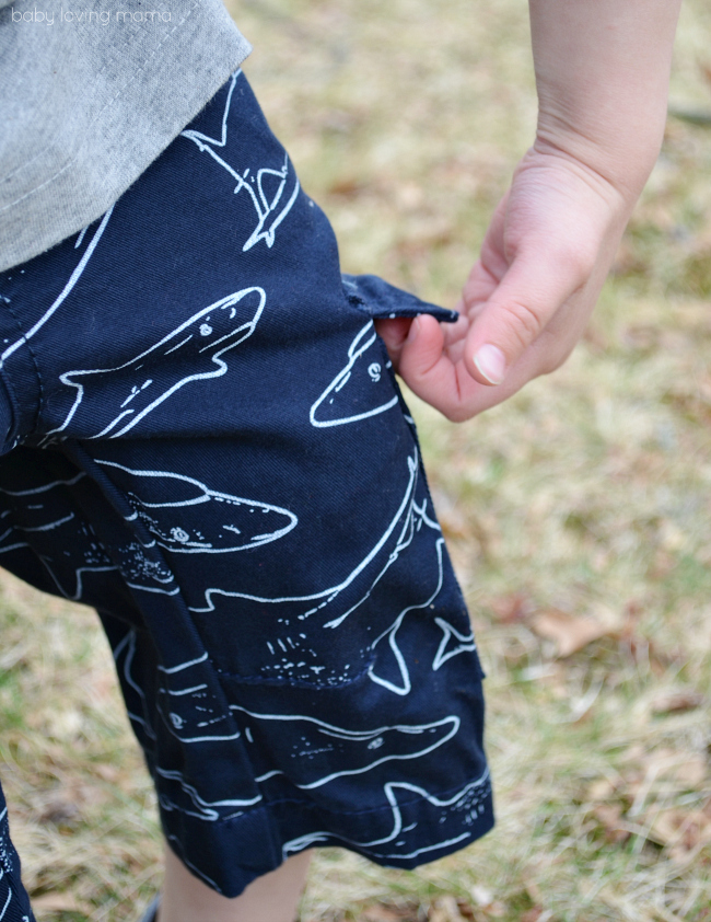 FabKids Shark Cargo Shorts - Copy