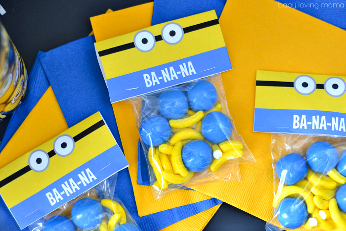 Minions Banana Treat Printable