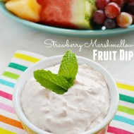 Strawberry Marshmallow Fruit Dip