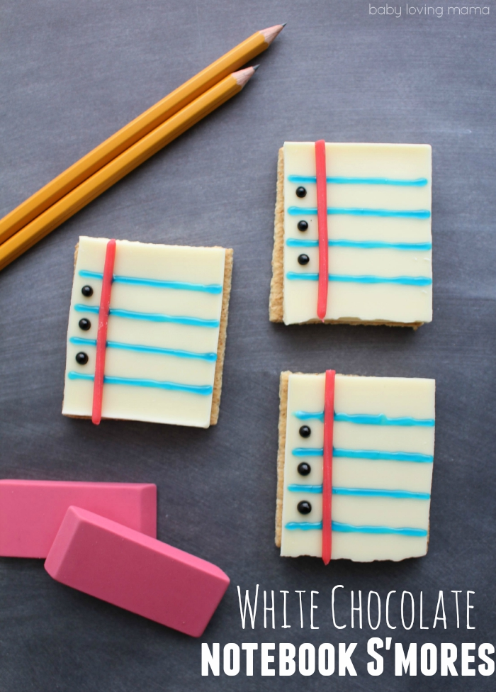White Chocolate Notebook S'Mores for Back to School