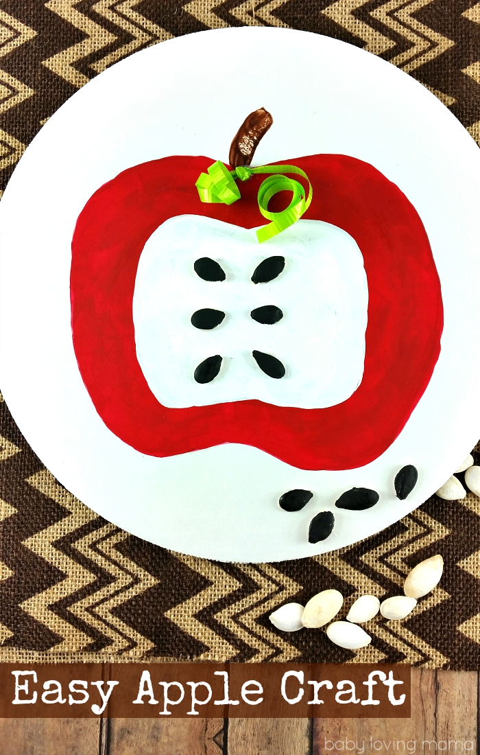 Easy Apple Craft with Paint