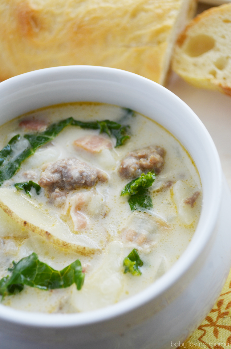 Copycat zuppa toscana soup recipe from olive garden finding zest for Olive garden potato sausage kale soup recipe