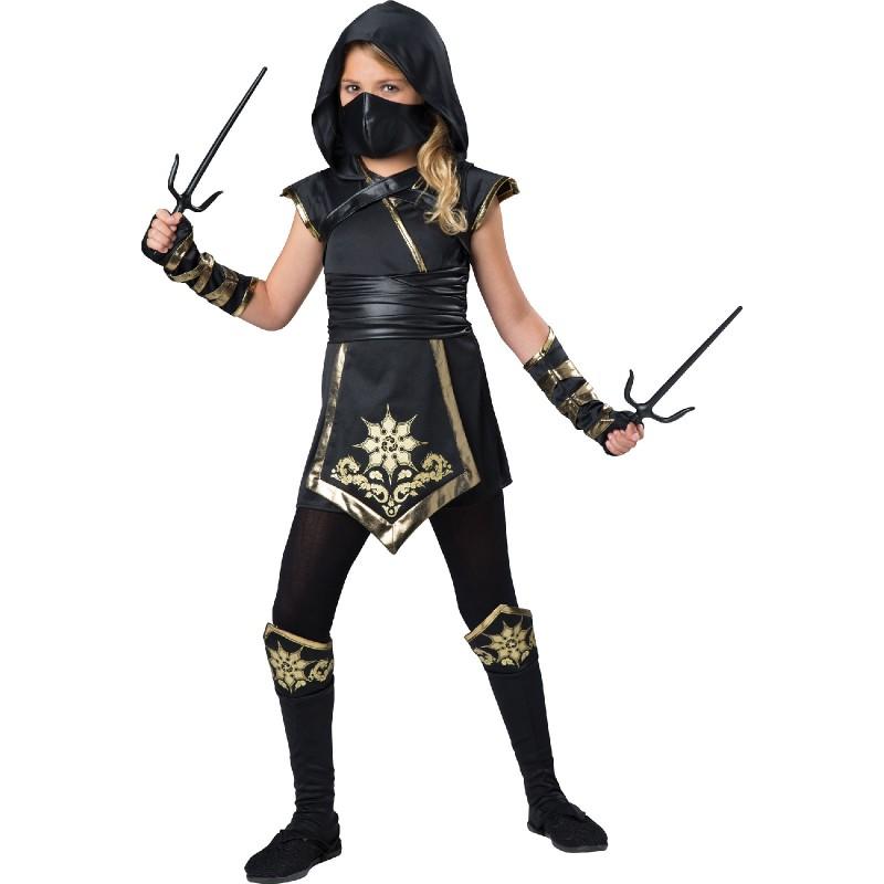 Costume Express Gold Ninja Girl Costume Exclusive