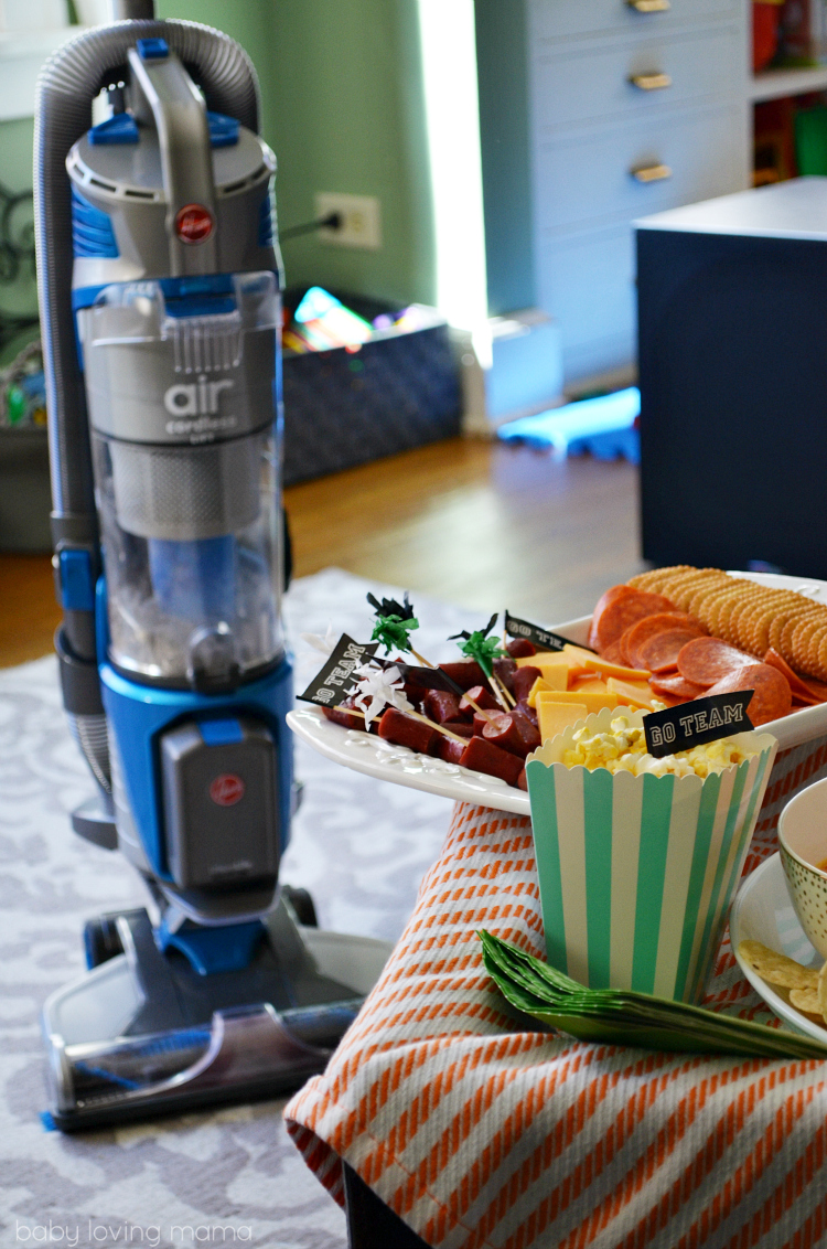 Game Day with Hoover Air Cordless Vaccum