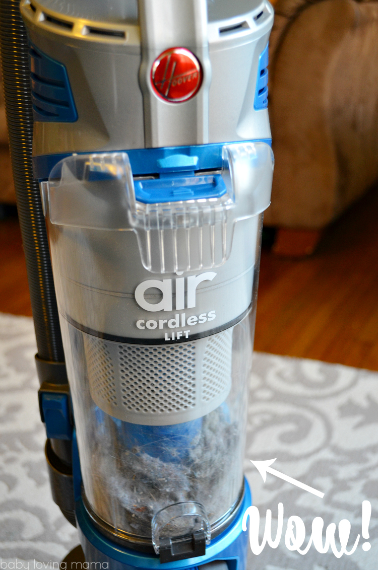Hoover Air Cordless Lift Vacuum After Cleaning
