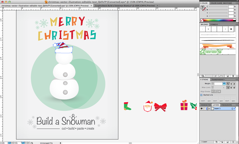 GraphicStock Snowman Cover Page 3