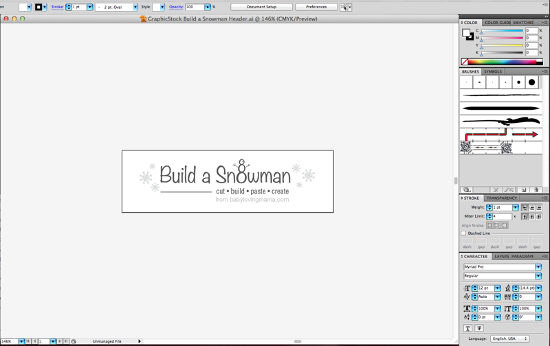 GraphicStock Snowman Headline