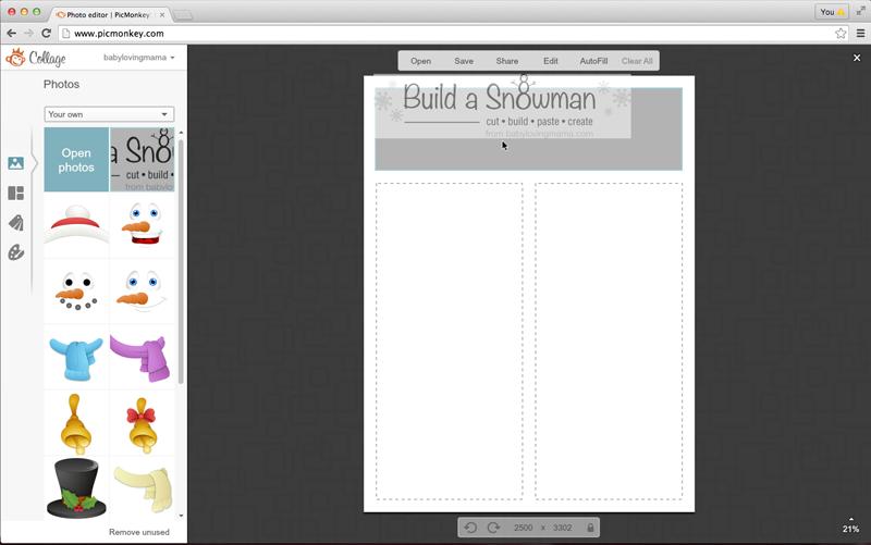 GraphicStock Snowman Pic Monkey 2