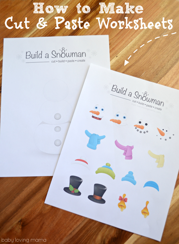 How to Make Cut and Paste Worksheets