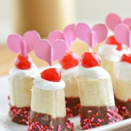 Chocolate Banana Sundae Bites for Valentine's Day | Mini Chef Mondays