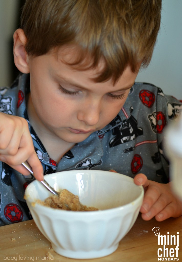 Making Muffin Crumb Topping with Kids