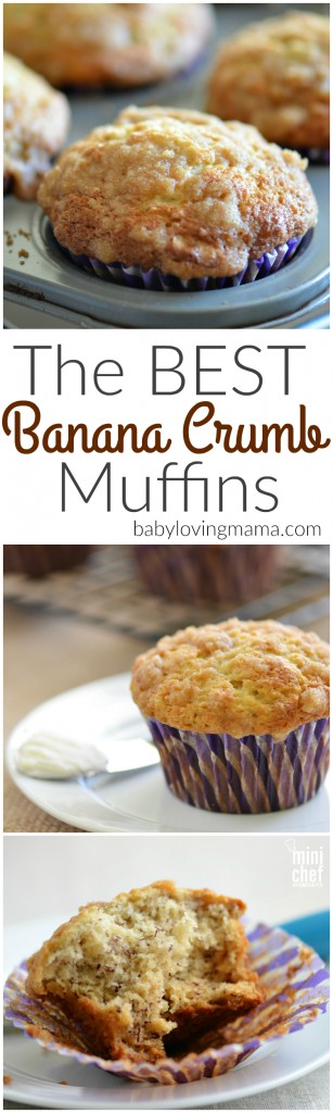 The Best Banana Crumb Muffins Recipe
