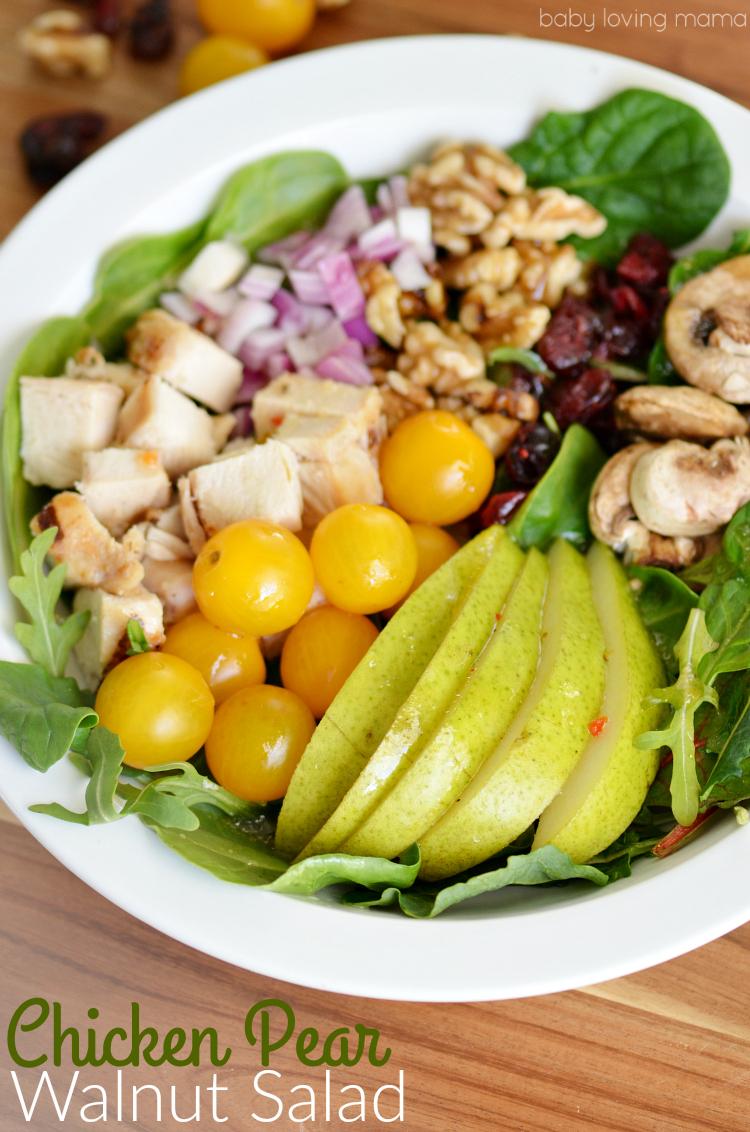 Chicken Pear Walnut Salad Recipe
