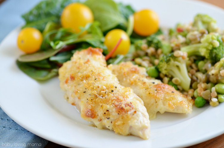 Kid Friendly Parmesan Crusted Chicken Tenders