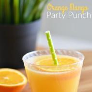 Orange Mango Party Punch | Mini Chef Mondays