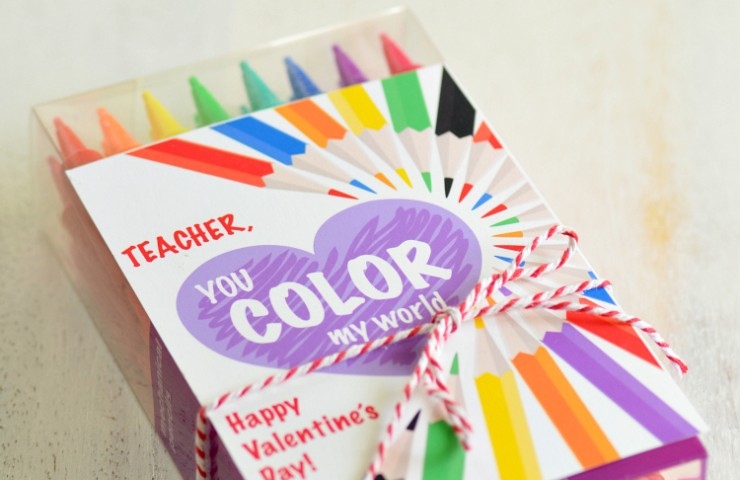 Teacher Valentine Free Printable: You Color My World