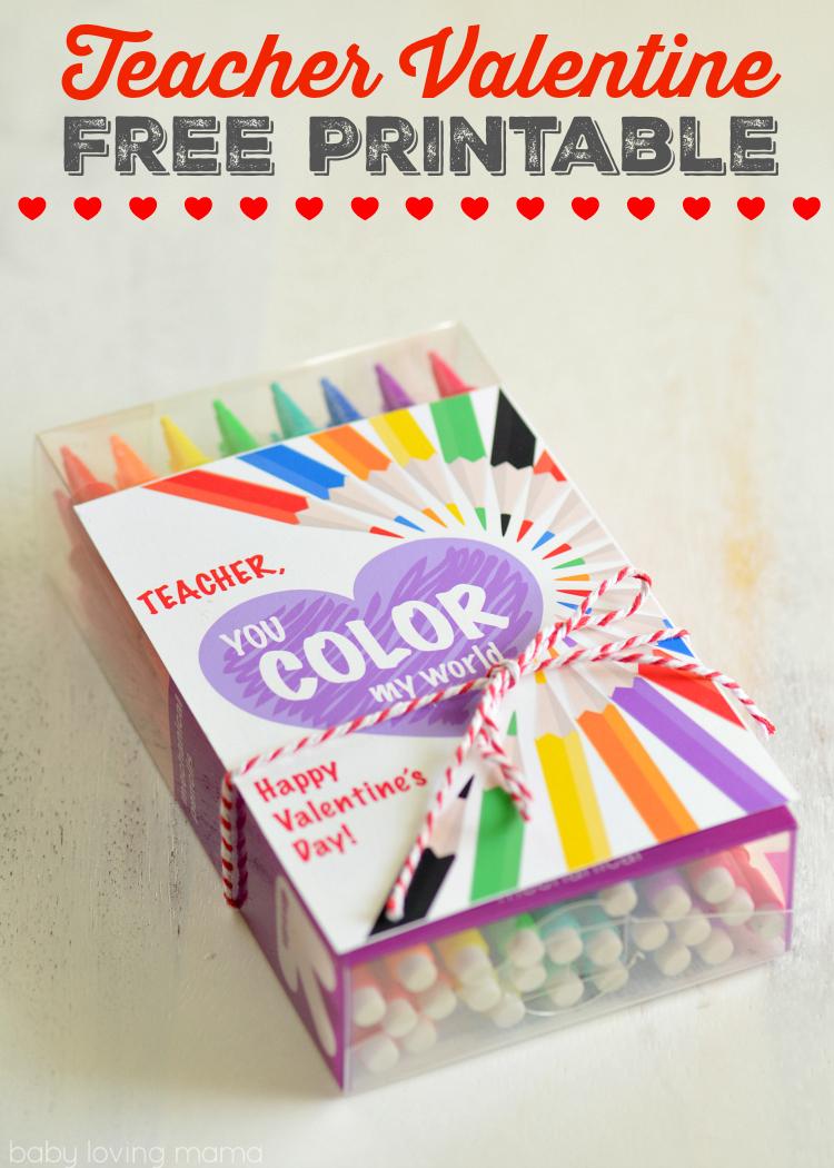 teacher valentine free printable you color my world