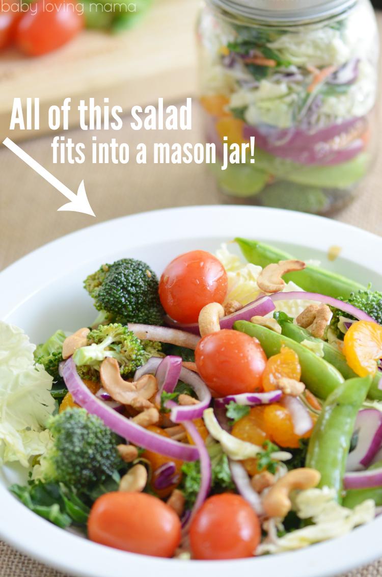 Asian Salad in Mason Jar