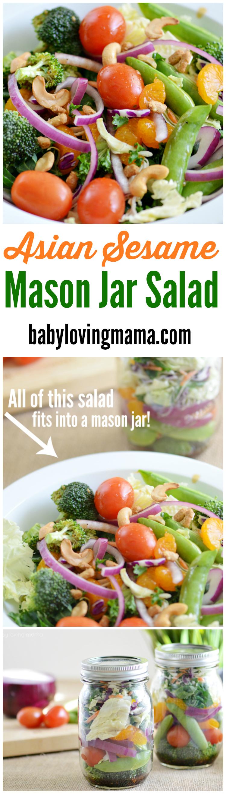 Asian Sesame Mason Jar Salad