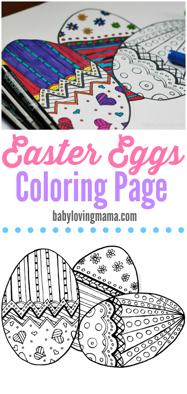 Easter Eggs Coloring Page Printable