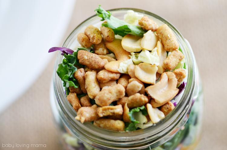 Eat Smart Asian Sesame Mason Jar Salad Top