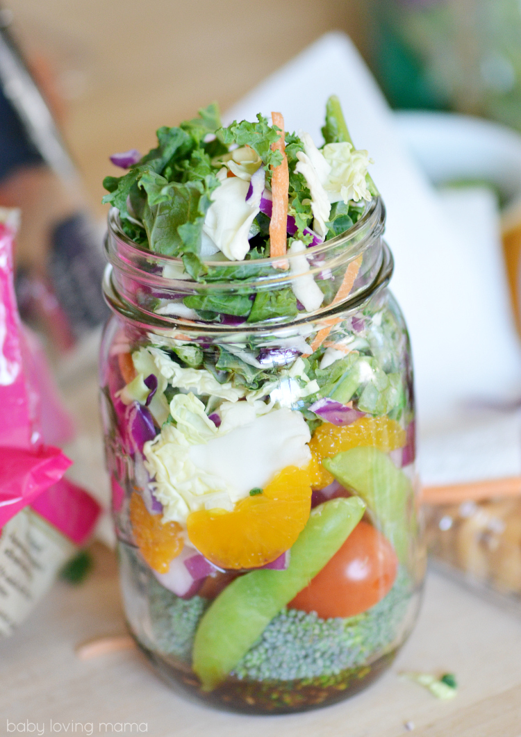 Eat Smart Asian Sesame Mason Jar Salad